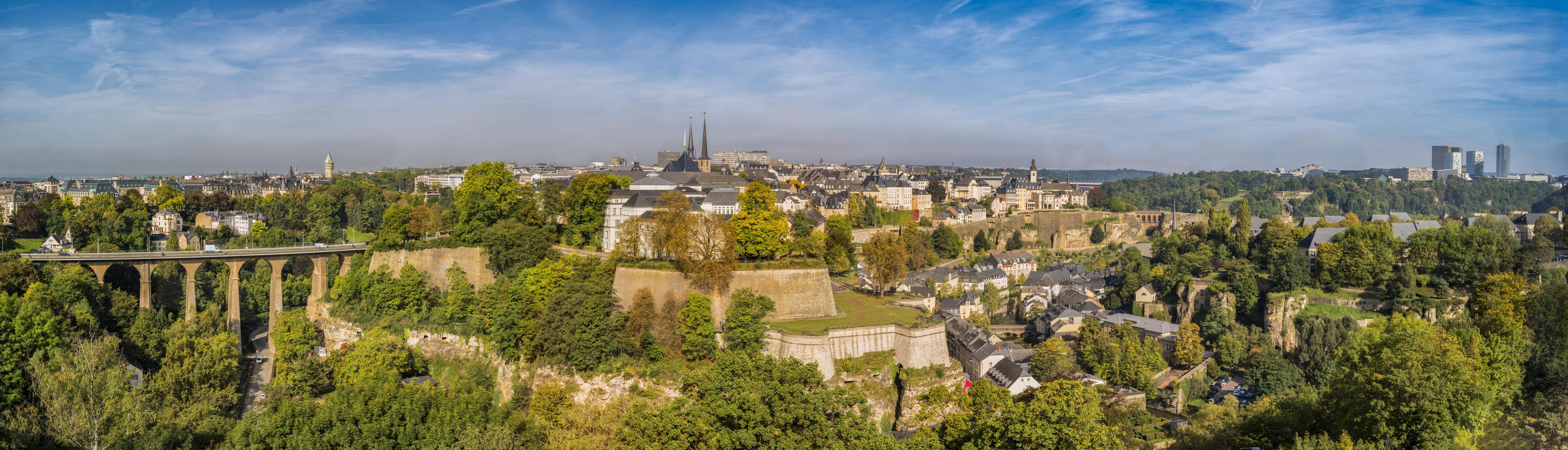 Panoramaaufnahme von der Stadt Luxemburg