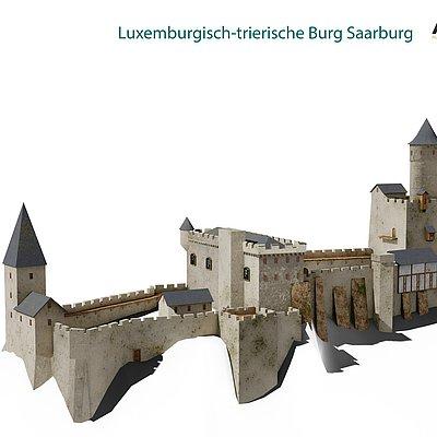 Foto: Burganlage Saarburg (08)