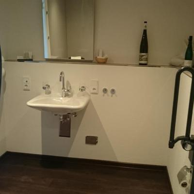 Foto: unterfahrbares Waschbecken im Gästehaus