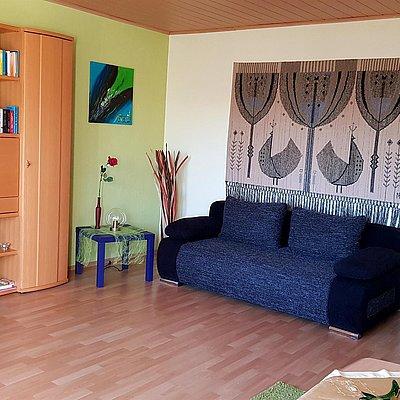 Foto: Wohnzimmer Schlafcouch