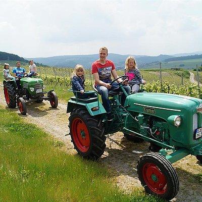 Foto: Oldtimer-Traktor fahren