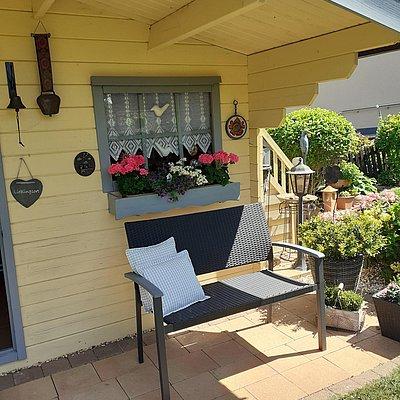 Foto: Sitzecke im Garten