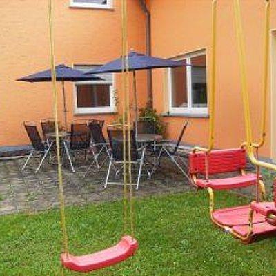 Foto: Gartenanlage mit Sitzecke