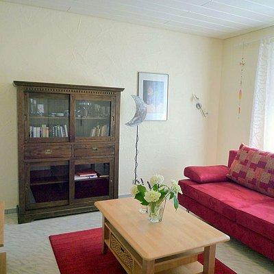 Foto: Wohnzimmer mit Bettcouch