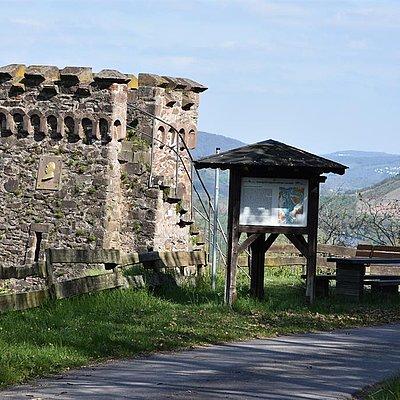 Foto: Bismarckturm ca 1,5 Km Fußweg