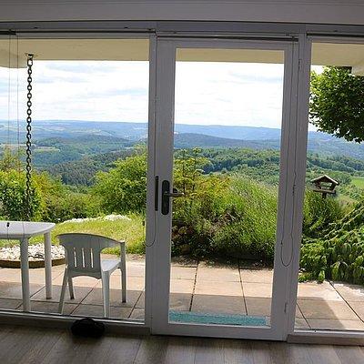 Foto: Blick vom Wohnbereich