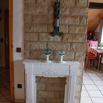 Foto: obere FeWo - Blick vom Wohnzimmer in die Wohnküche