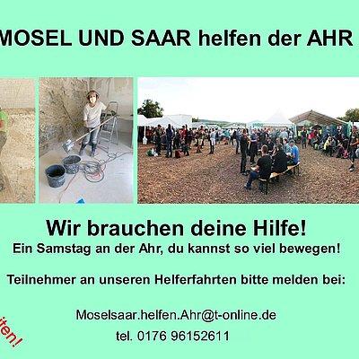 Foto: Mosel und Saar helfen der Ahr