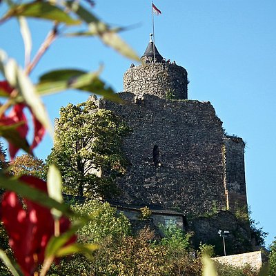 Foto: Burganlage Saarburg