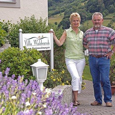 Foto: Ihre Gastgeber Ingrid und Otmar Rauen