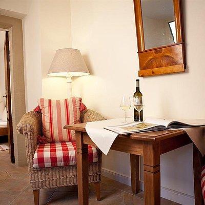 Foto: Blick ins Schlafzimmer Winzerappartement