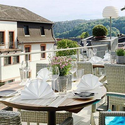 Foto: Terrasse und Haus Leukblick