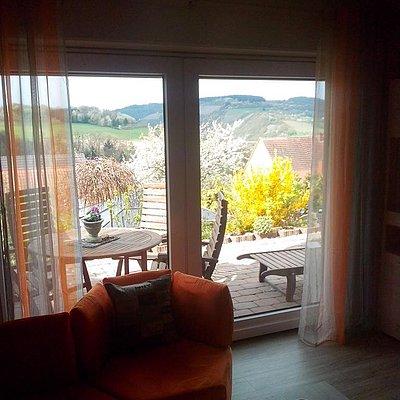 Foto: Wohnzimmerzugang zur Terrasse