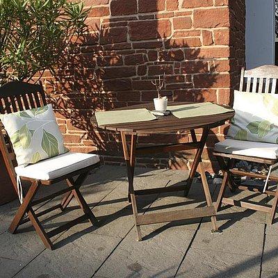 Foto: ein Platz auf der Terrasse