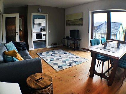 Das Wohnzimmer, Ort für gemütliche Stunden.