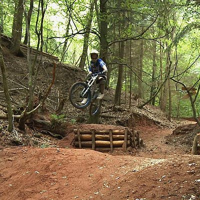 Foto: Mountainbike-Parcours Trassem