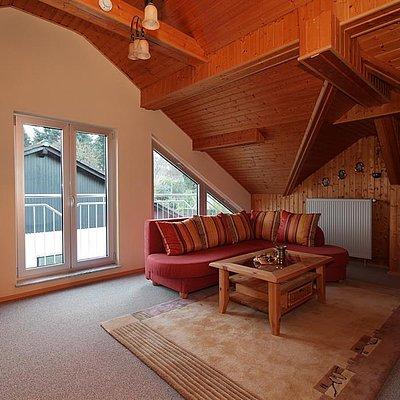 Foto: Ferienwohnung oben Wohnraum
